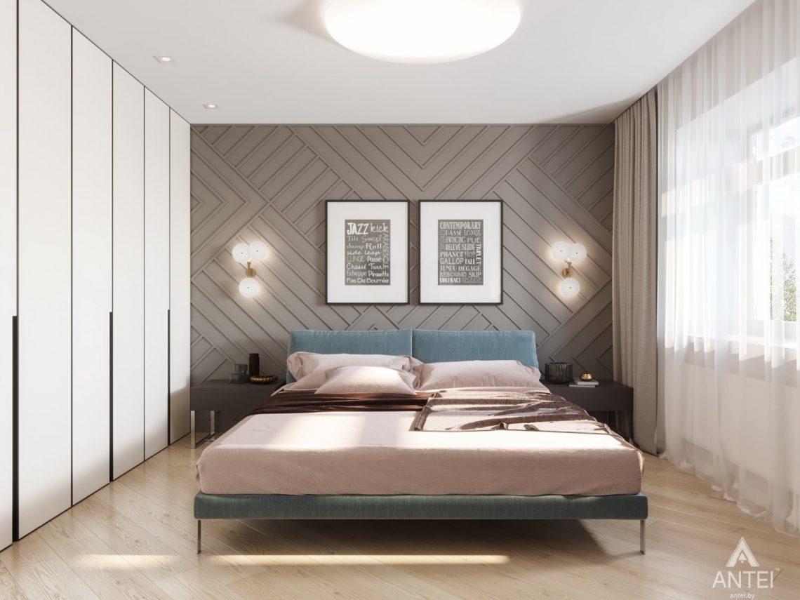 Дизайн интерьера трехкомнатной квартиры в Гомеле, ул. Карла Маркса - спальня фото №4