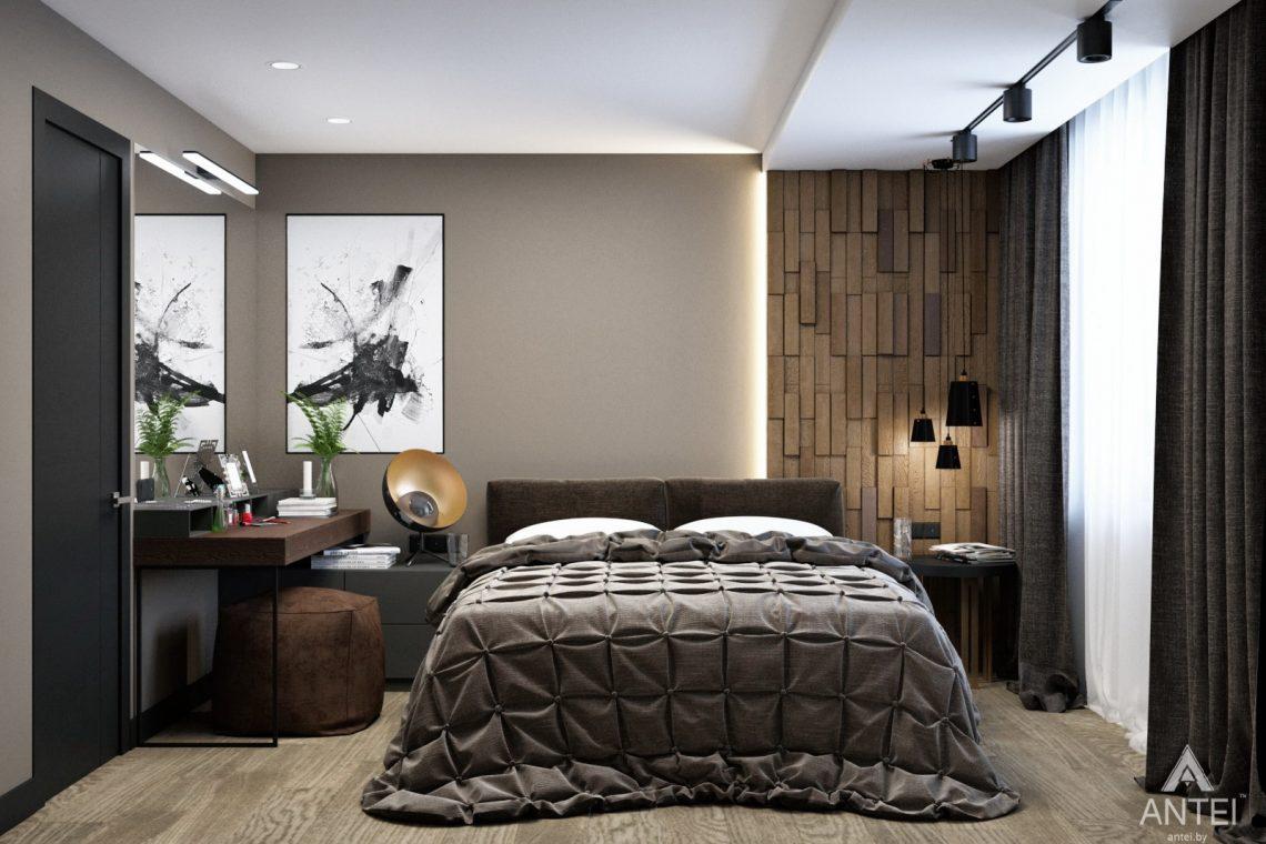 Дизайн интерьера двухкомнатная квартира в Речице - спальня фото №1