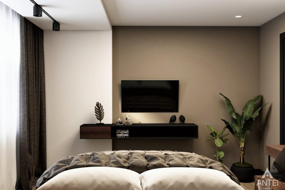 Дизайн интерьера двухкомнатная квартира в Речице - спальня фото №2
