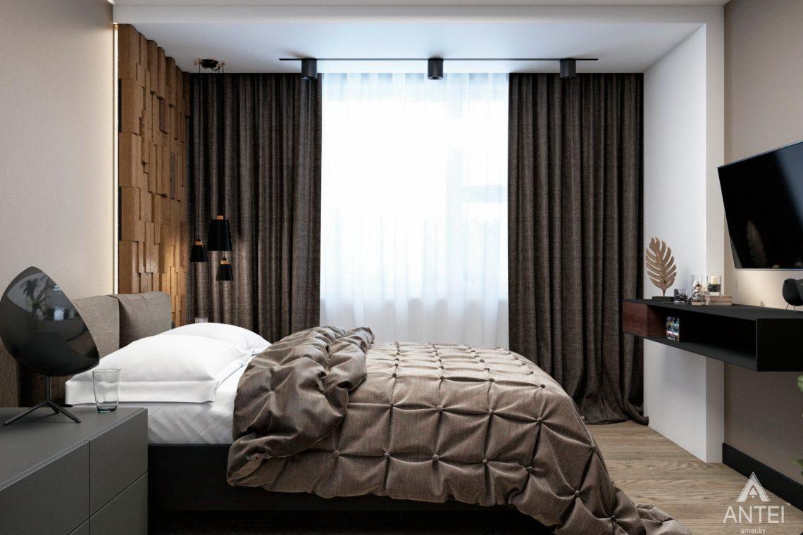 Дизайн интерьера двухкомнатная квартира в Речице - спальня фото №4