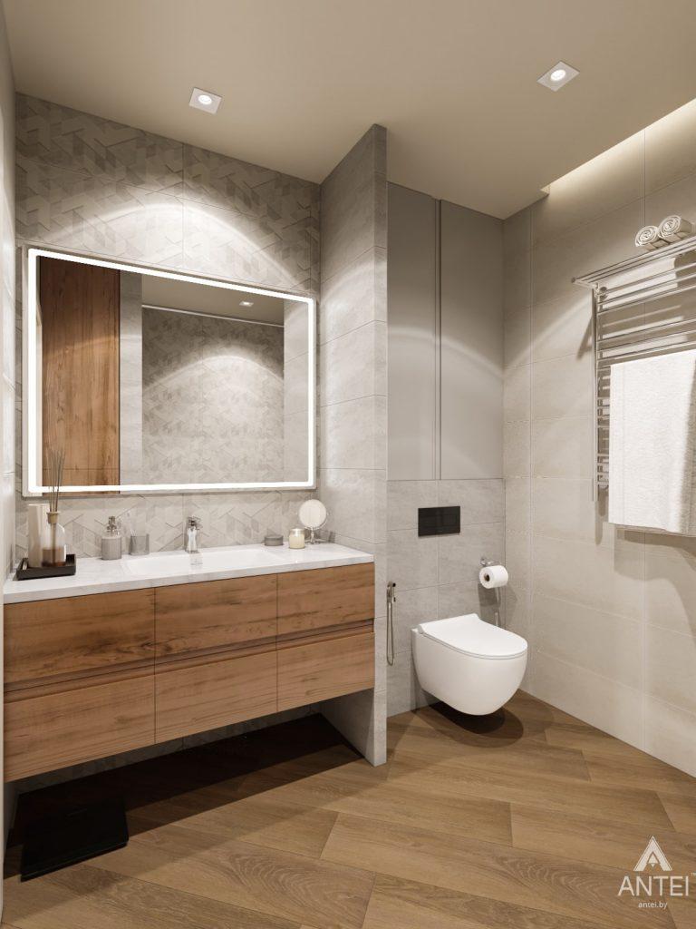 Дизайн интерьера трехкомнатной квартиры в Гомеле, ул. Карла Маркса - ванная фото №1