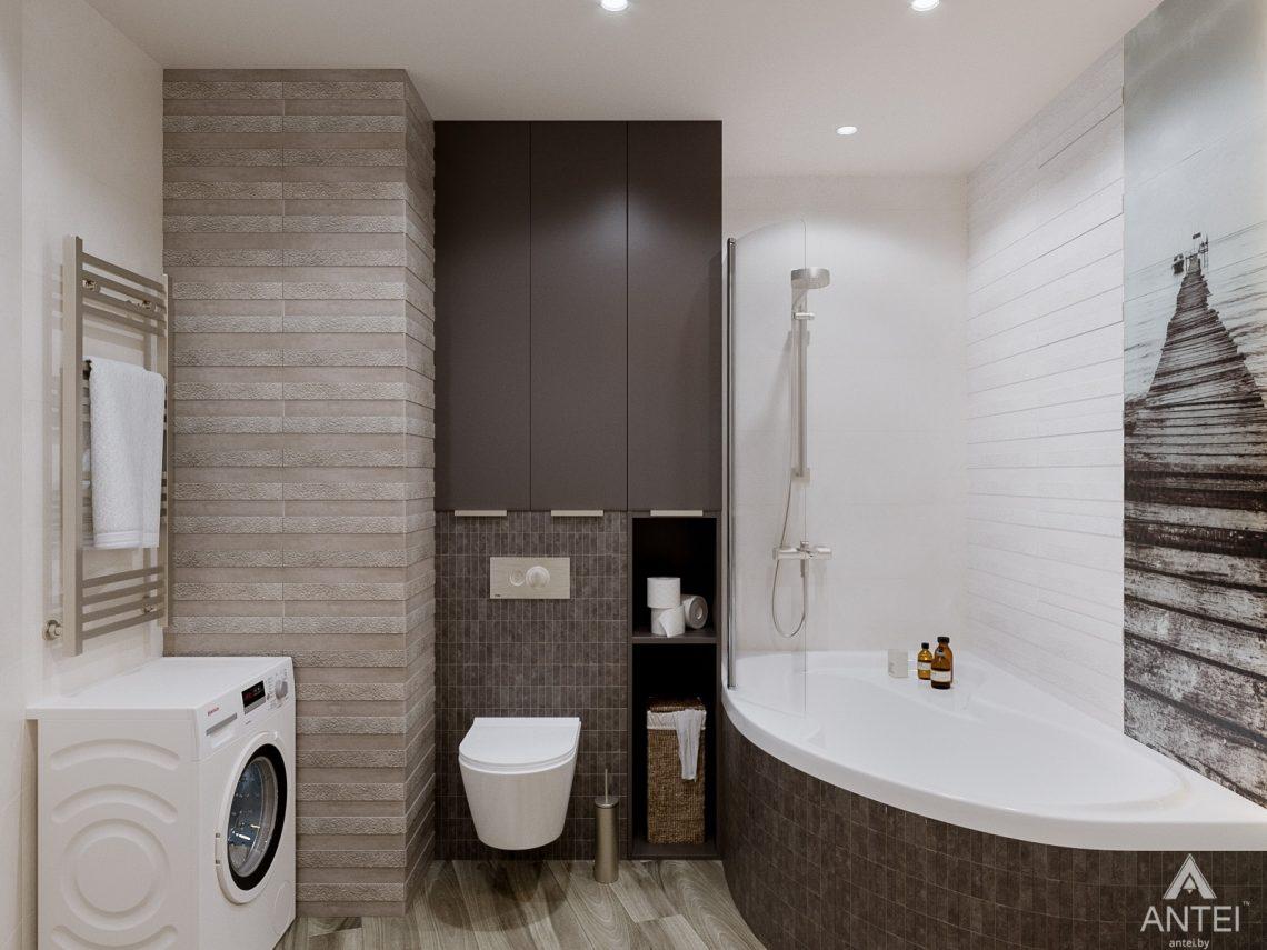 Дизайн интерьера однокомнатной квартиры в Гомеле, ул. Мазурова - санузел фото №2