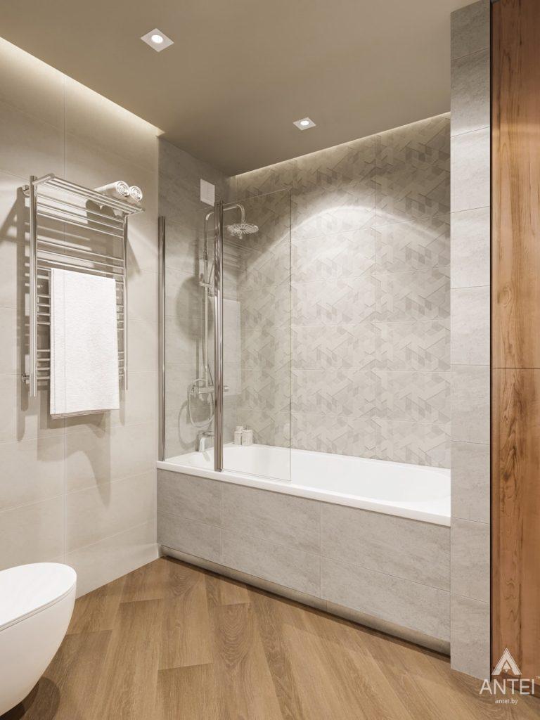 Дизайн интерьера трехкомнатной квартиры в Гомеле, ул. Карла Маркса - ванная фото №2