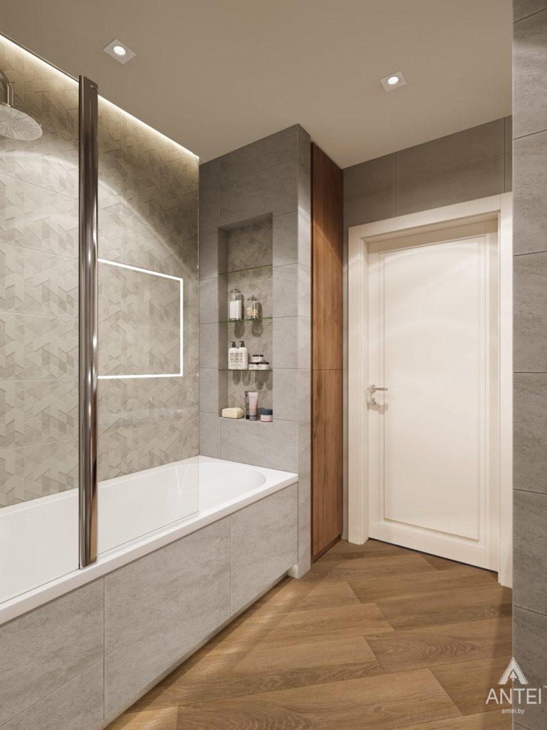 Дизайн интерьера трехкомнатной квартиры в Гомеле, ул. Карла Маркса - ванная фото №3