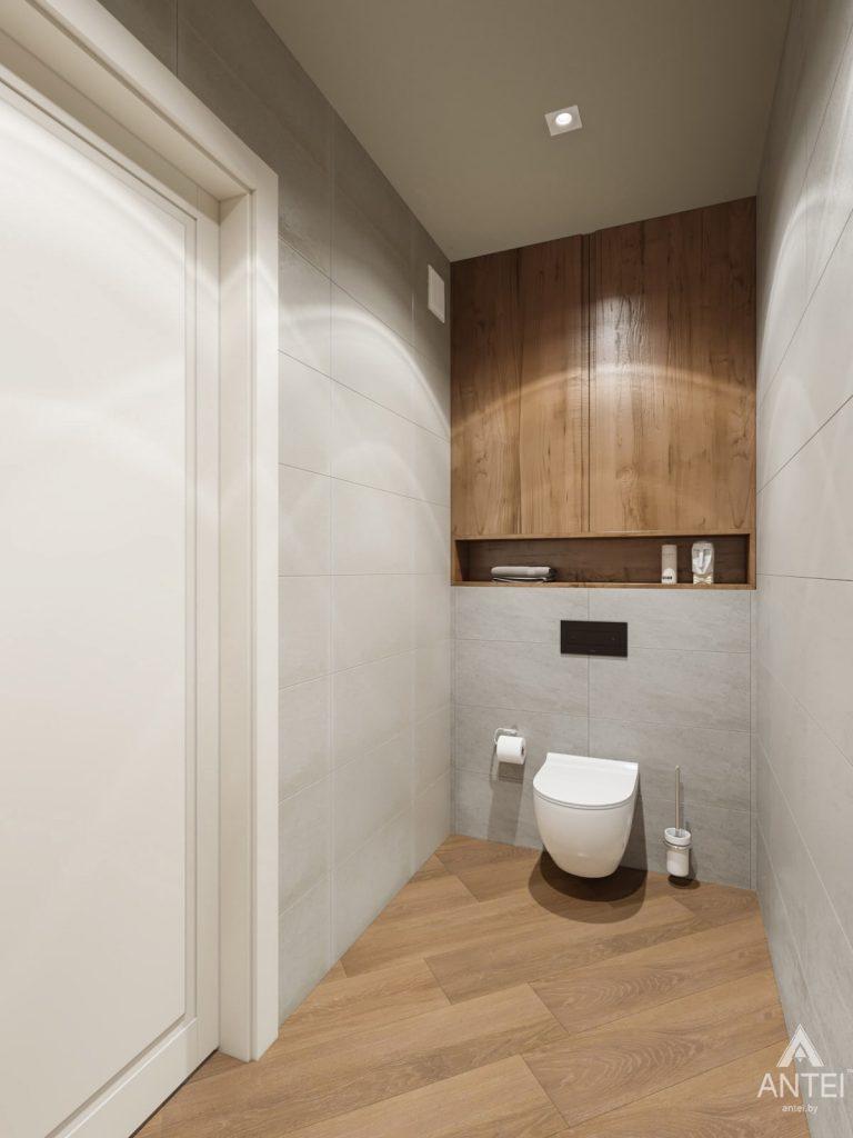 Дизайн интерьера трехкомнатной квартиры в Гомеле, ул. Карла Маркса - туалет фото №1