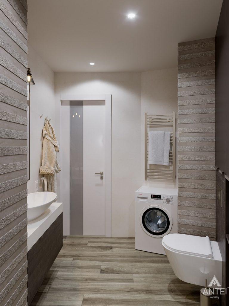 Дизайн интерьера однокомнатной квартиры в Гомеле, ул. Мазурова - санузел фото №4