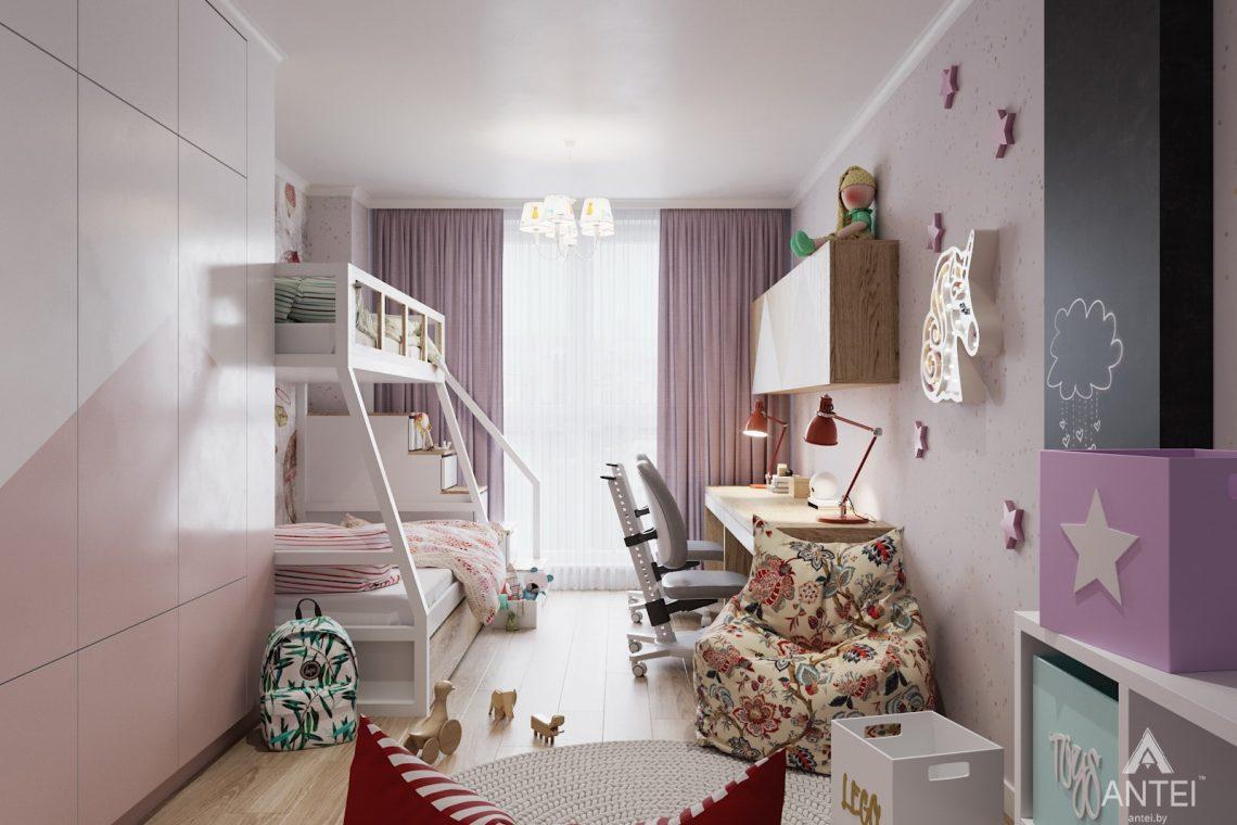 Дизайн интерьера трехкомнатной квартиры в Минске, ЖК Vogue - детская комната фото №1