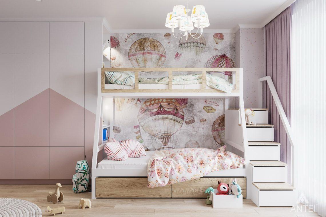 Дизайн интерьера трехкомнатной квартиры в Минске, ЖК Vogue - детская комната фото №3