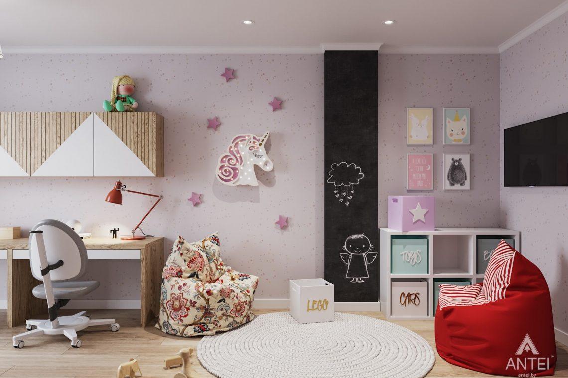 Дизайн интерьера трехкомнатной квартиры в Минске, ЖК Vogue - детская комната фото №4