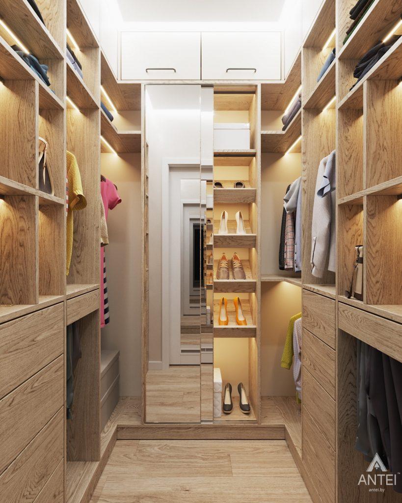 Дизайн интерьера трехкомнатной квартиры в Минске, ЖК Vogue - гардеробная фото №1