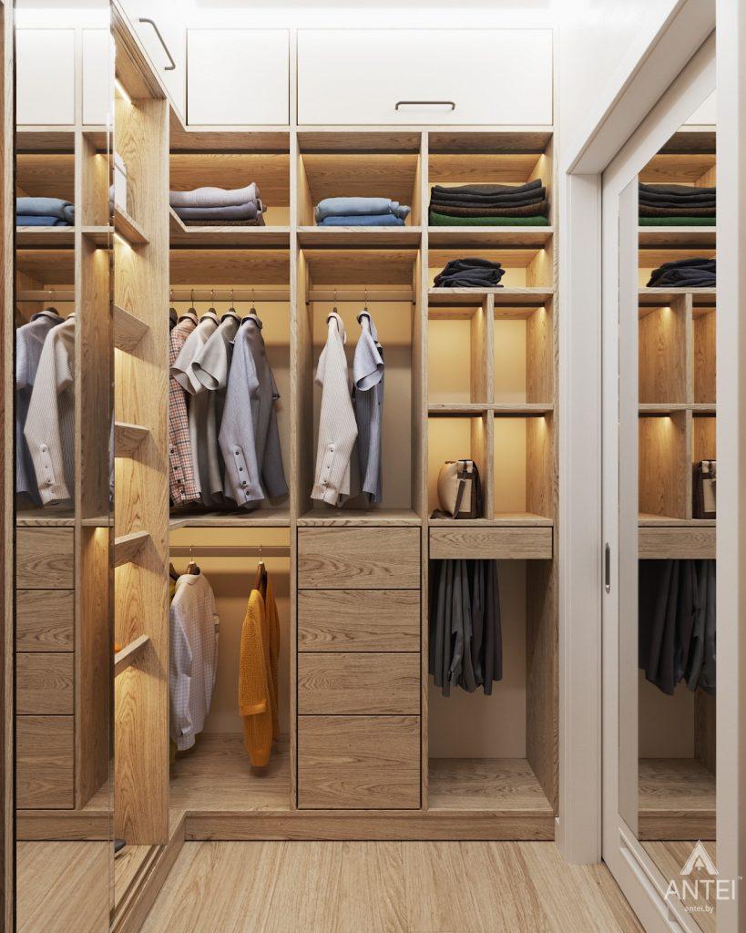 Дизайн интерьера трехкомнатной квартиры в Минске, ЖК Vogue - гардеробная фото №2