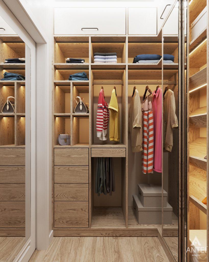 Дизайн интерьера трехкомнатной квартиры в Минске, ЖК Vogue - гардеробная фото №3