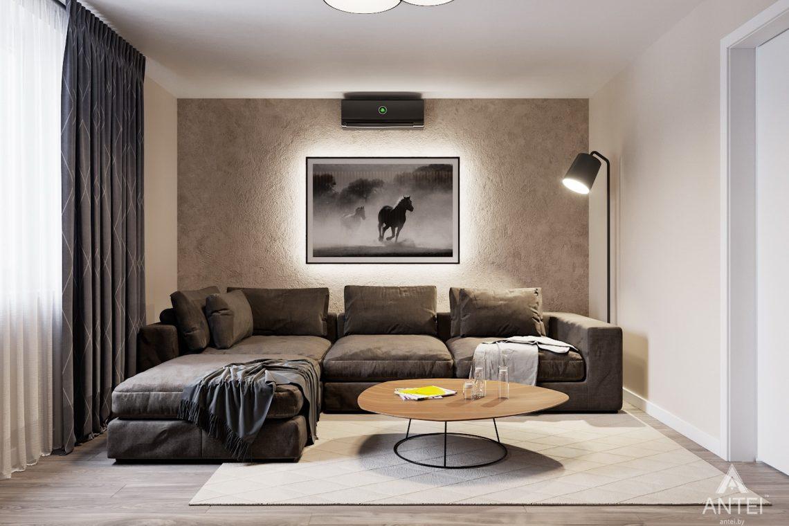 изайн интерьера двухкомнатной квартиры в Гомеле, ул. Советская - гостиная фото №2