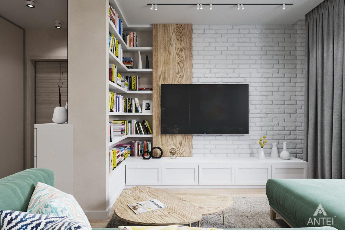 Дизайн интерьера трехкомнатной квартиры в Минске, ЖК Vogue - гостиная-кухня фото №4