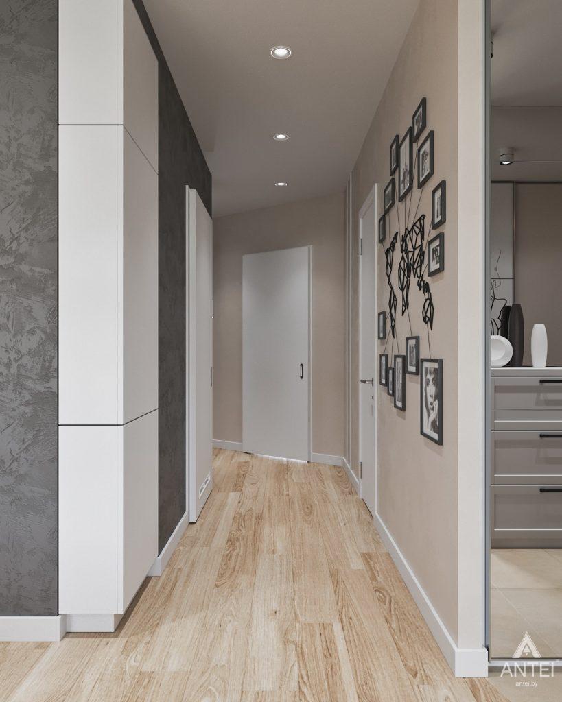 Дизайн интерьера трехкомнатной квартиры в Минске, ЖК Vogue - коридор фото №1