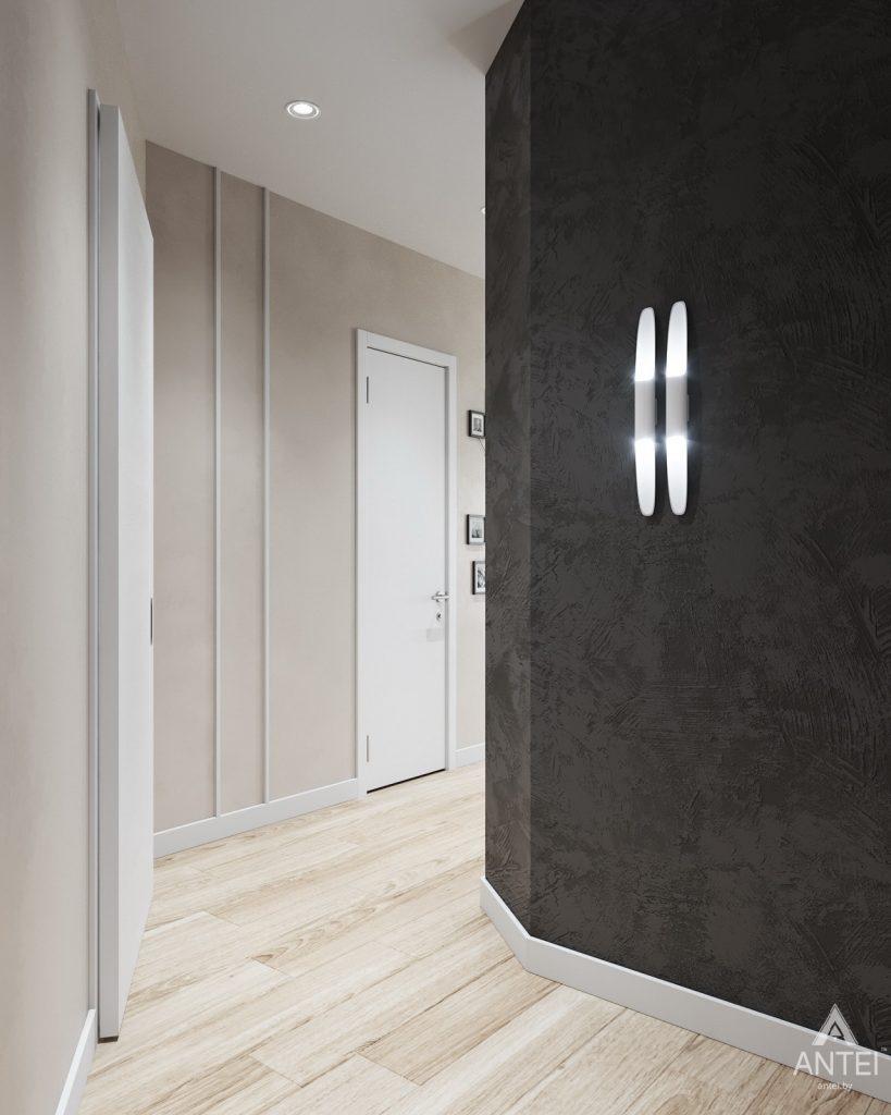 Дизайн интерьера трехкомнатной квартиры в Минске, ЖК Vogue - коридор фото №3