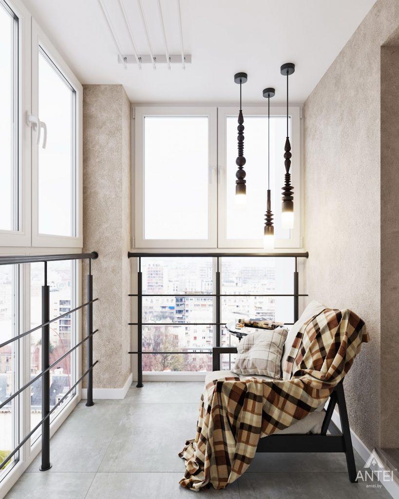 изайн интерьера двухкомнатной квартиры в Гомеле, ул. Советская - лоджия фото №1