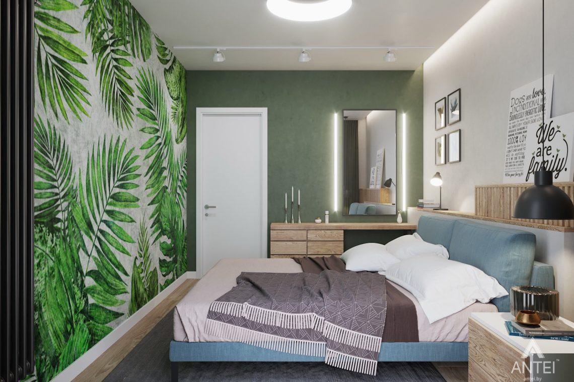 Дизайн интерьера трехкомнатной квартиры в Минске, ЖК Vogue - спальня фото №2