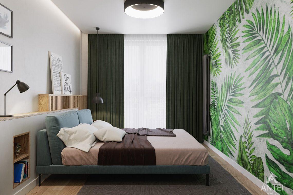 Дизайн интерьера трехкомнатной квартиры в Минске, ЖК Vogue - спальня фото №3