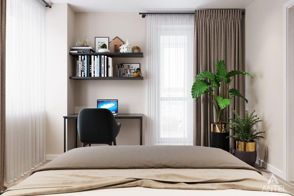 изайн интерьера двухкомнатной квартиры в Гомеле, ул. Советская - спальня фото №2