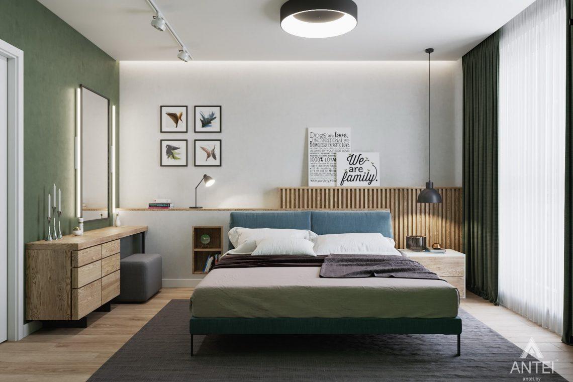 Дизайн интерьера трехкомнатной квартиры в Минске, ЖК Vogue - спальня фото №1