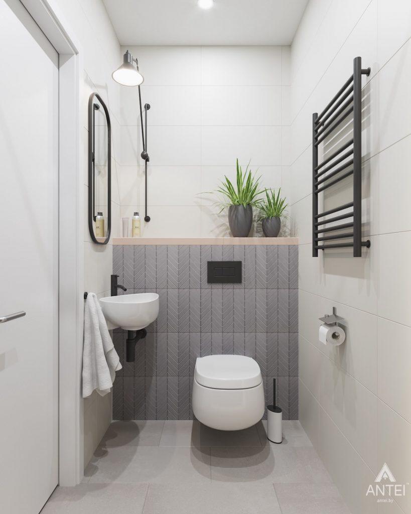 Дизайн интерьера трехкомнатной квартиры в Минске, ЖК Vogue - туалет фото №1