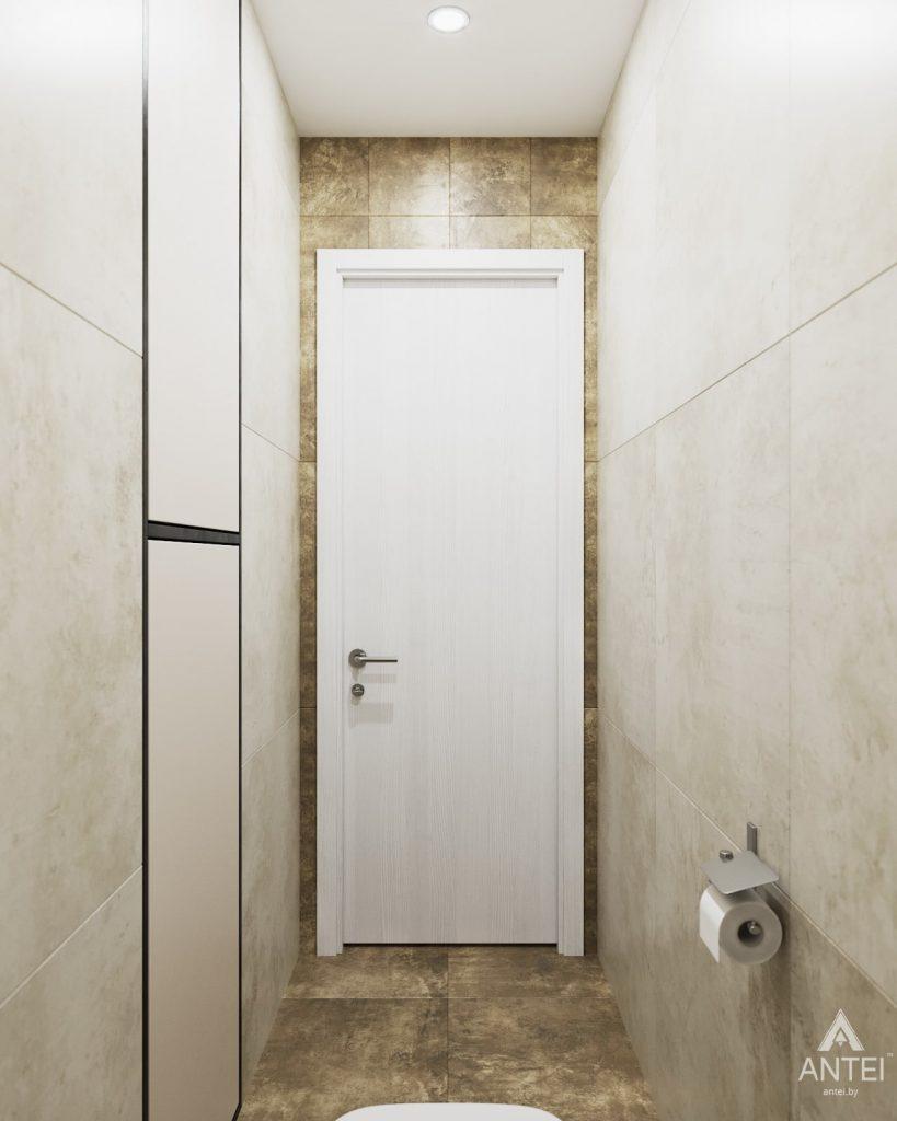 изайн интерьера двухкомнатной квартиры в Гомеле, ул. Советская - туалет фото №2
