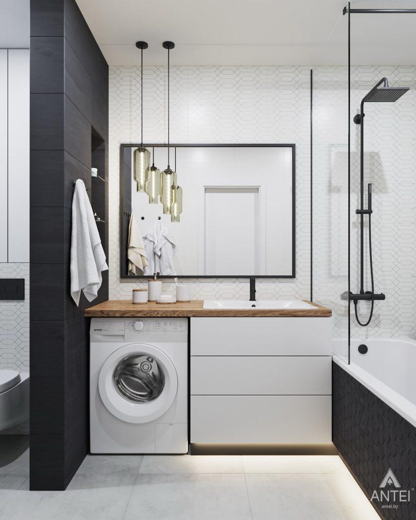 Дизайн интерьера трехкомнатной квартиры в Минске, ЖК Vogue - ванная фото №1
