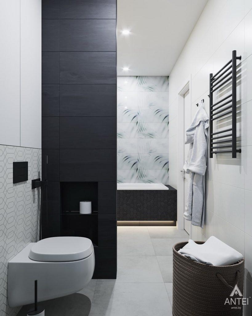 Дизайн интерьера трехкомнатной квартиры в Минске, ЖК Vogue - ванная фото №2