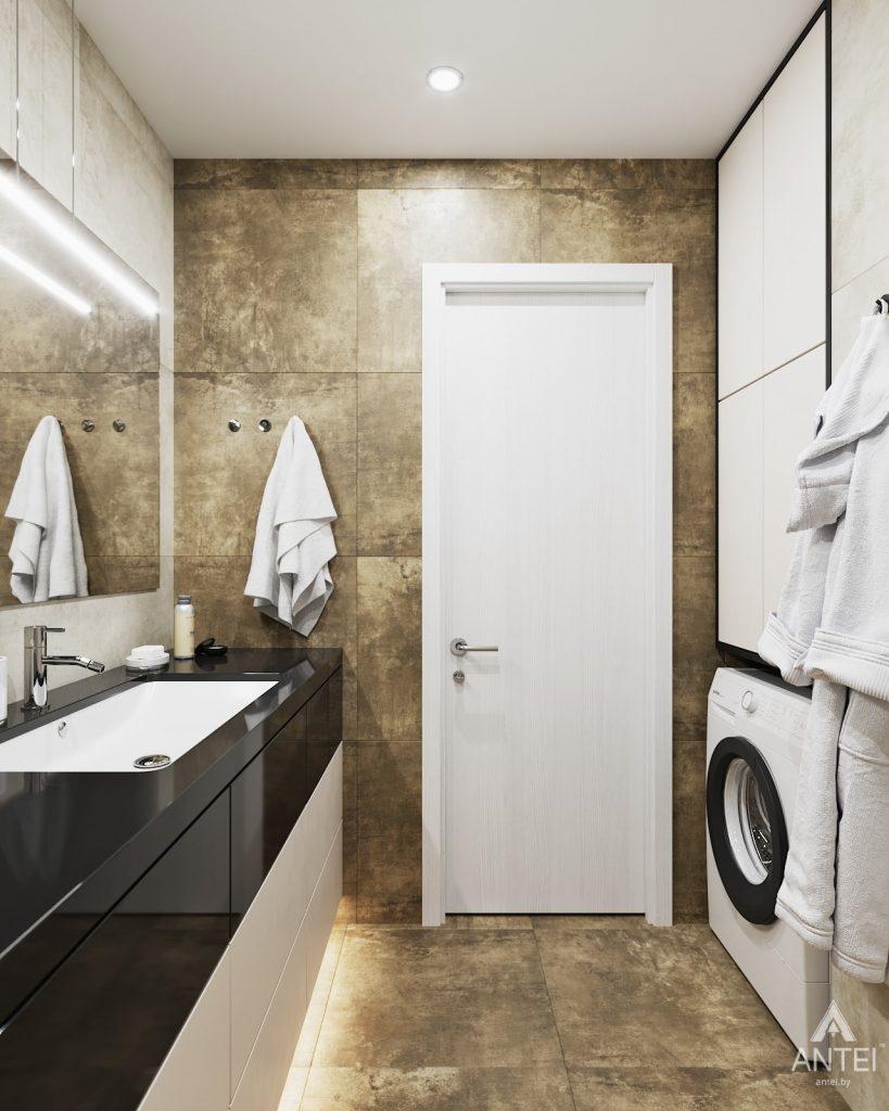 изайн интерьера двухкомнатной квартиры в Гомеле, ул. Советская - ванная фото №2