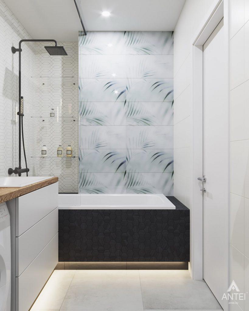 Дизайн интерьера трехкомнатной квартиры в Минске, ЖК Vogue - ванная фото №4