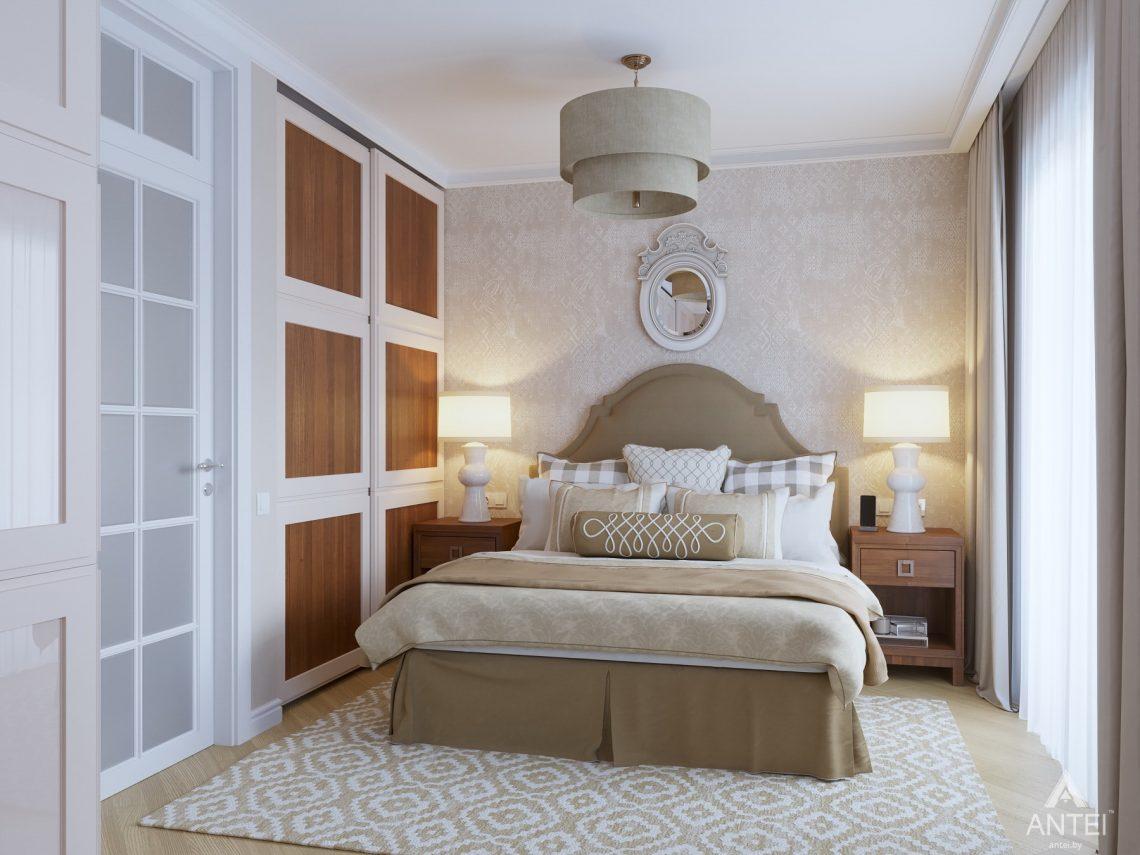 Дизайн интерьера двухкомнатной квартиры в Гомеле, ул. Волотовская - спальня фото №1