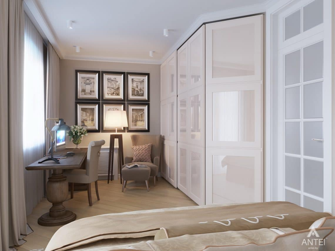 Дизайн интерьера двухкомнатной квартиры в Гомеле, ул. Волотовская - спальня фото №3
