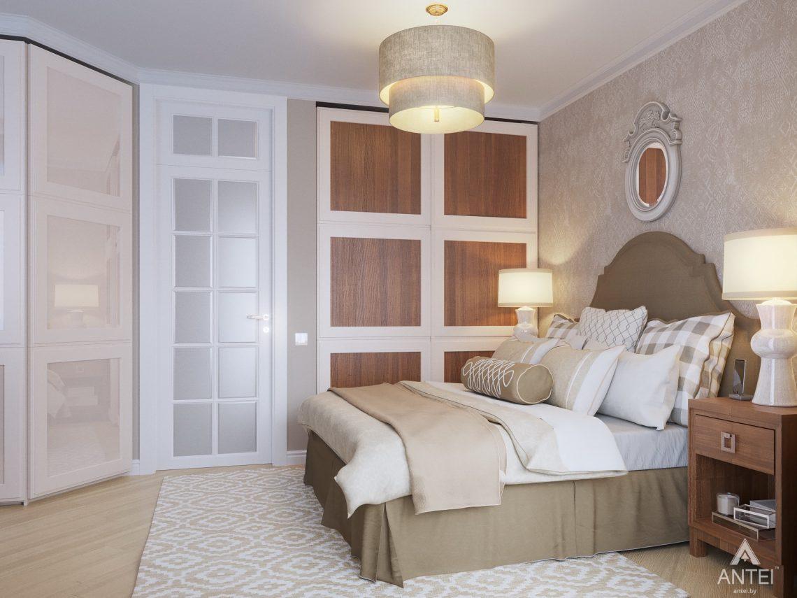 Дизайн интерьера двухкомнатной квартиры в Гомеле, ул. Волотовская - спальня фото №2