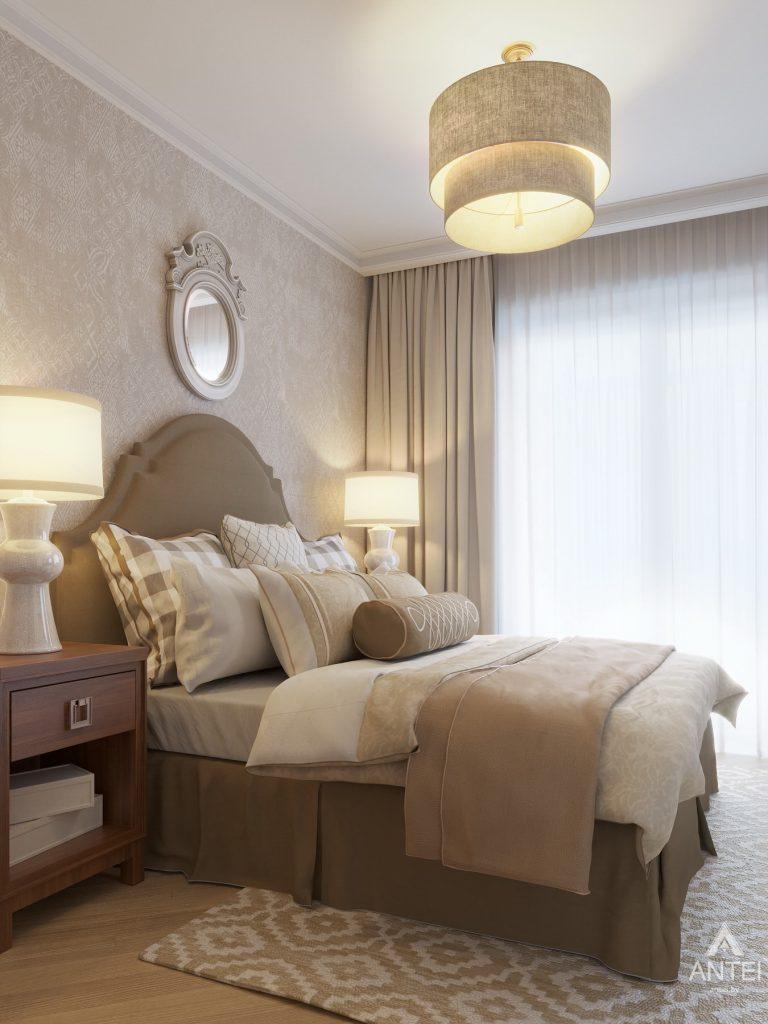 Дизайн интерьера двухкомнатной квартиры в Гомеле, ул. Волотовская - спальня фото №4