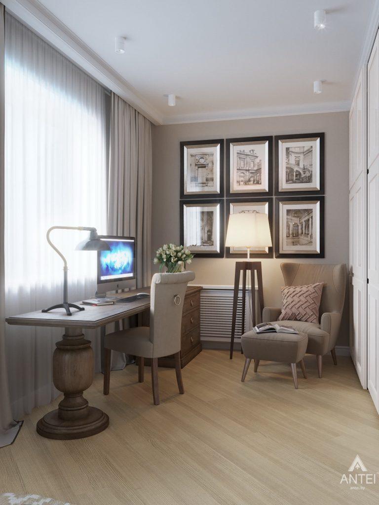 Дизайн интерьера двухкомнатной квартиры в Гомеле, ул. Волотовская - спальня фото №5
