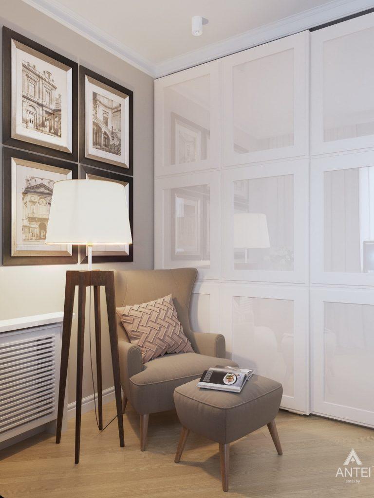 Дизайн интерьера двухкомнатной квартиры в Гомеле, ул. Волотовская - спальня фото №6