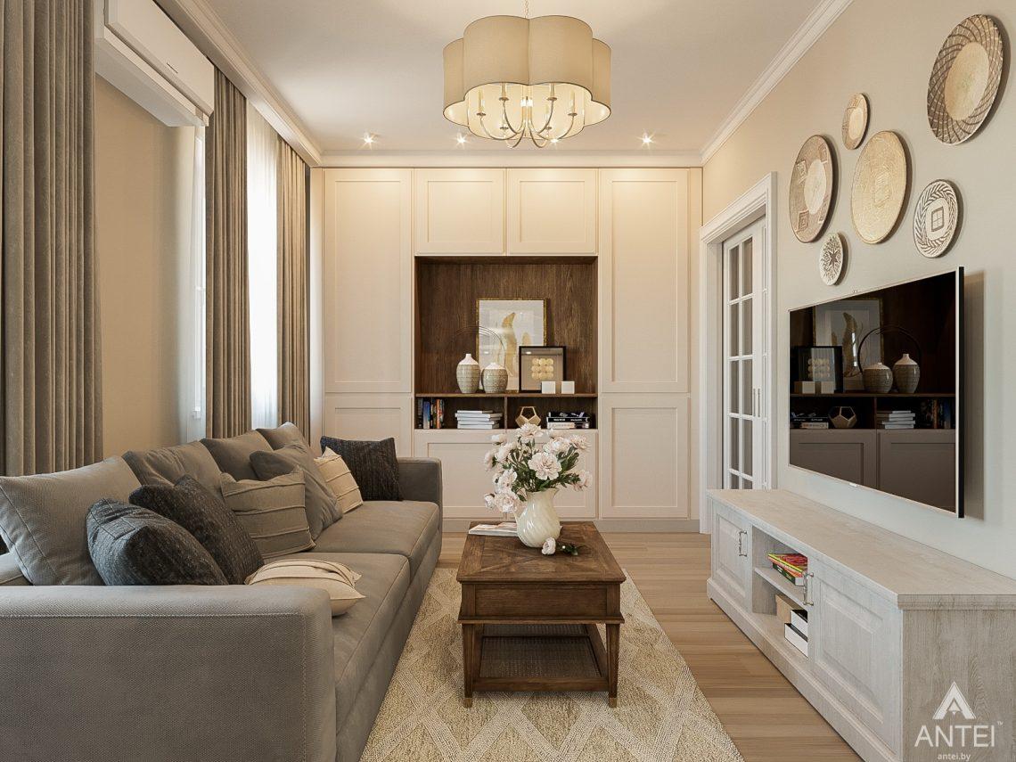 Дизайн интерьера двухкомнатной квартиры в Гомеле, ул. Волотовская - гостиная фото №3