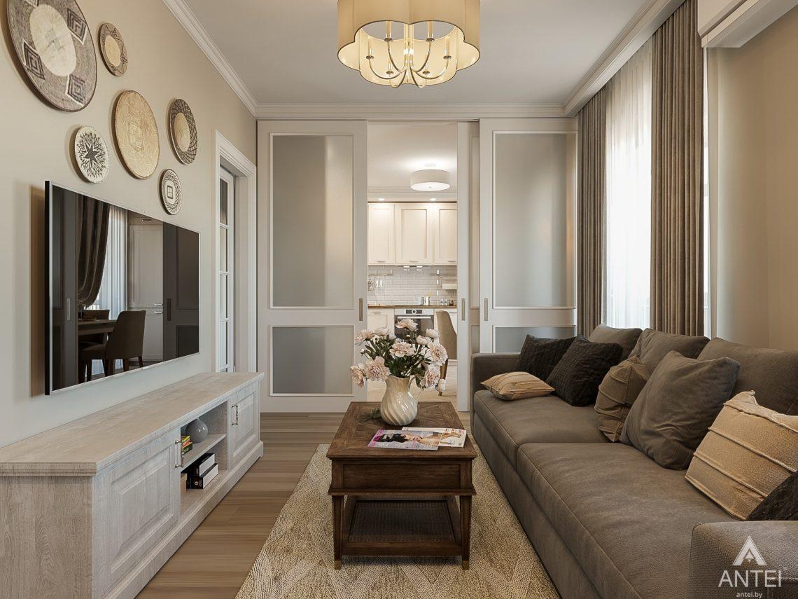 Дизайн интерьера двухкомнатной квартиры в Гомеле, ул. Волотовская - гостиная фото №1