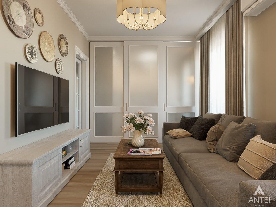 Дизайн интерьера двухкомнатной квартиры в Гомеле, ул. Волотовская - гостиная фото №2