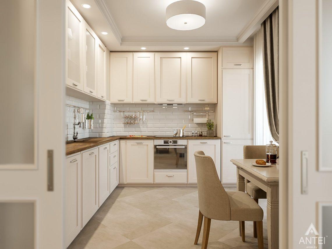 Дизайн интерьера двухкомнатной квартиры в Гомеле, ул. Волотовская - кухня фото №1