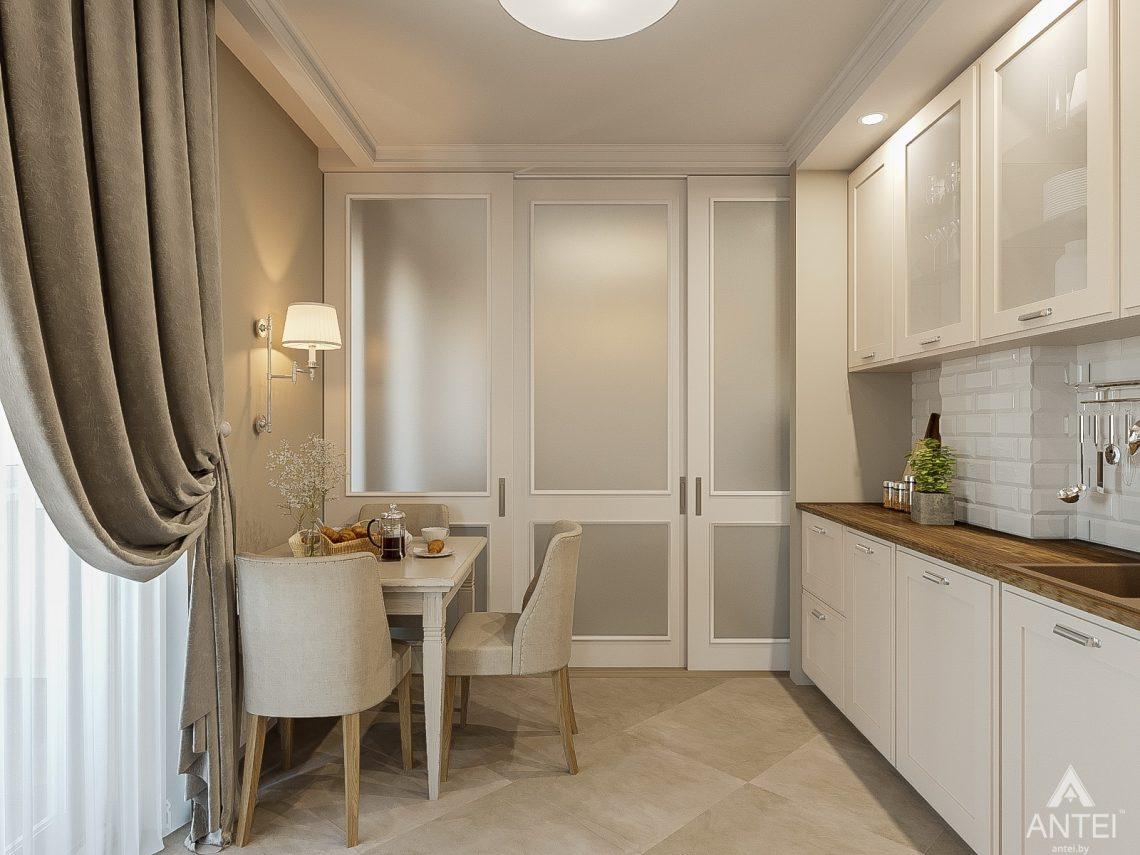 Дизайн интерьера двухкомнатной квартиры в Гомеле, ул. Волотовская - кухня фото №4