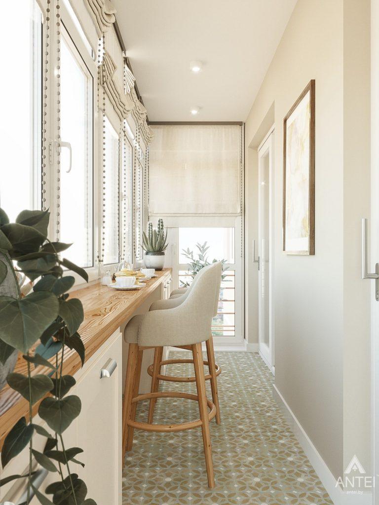 Дизайн интерьера двухкомнатной квартиры в Гомеле, ул. Волотовская - лоджия фото №2
