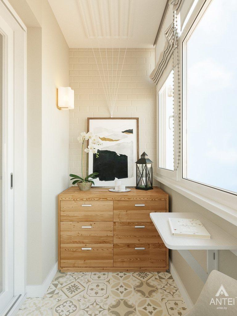 Дизайн интерьера двухкомнатной квартиры в Гомеле, ул. Волотовская - лоджия фото №3