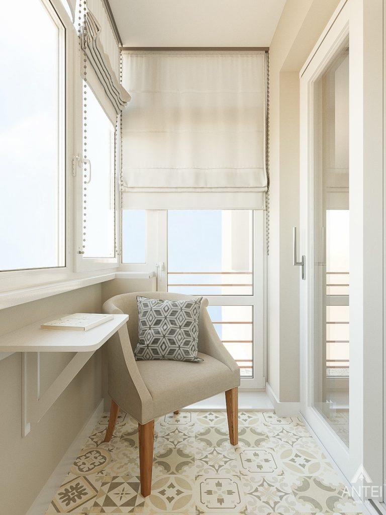 Дизайн интерьера двухкомнатной квартиры в Гомеле, ул. Волотовская - лоджия фото №4