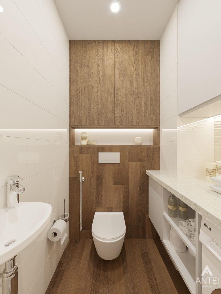 Дизайн интерьера двухкомнатной квартиры в Гомеле, ул. Волотовская - санузел фото №1