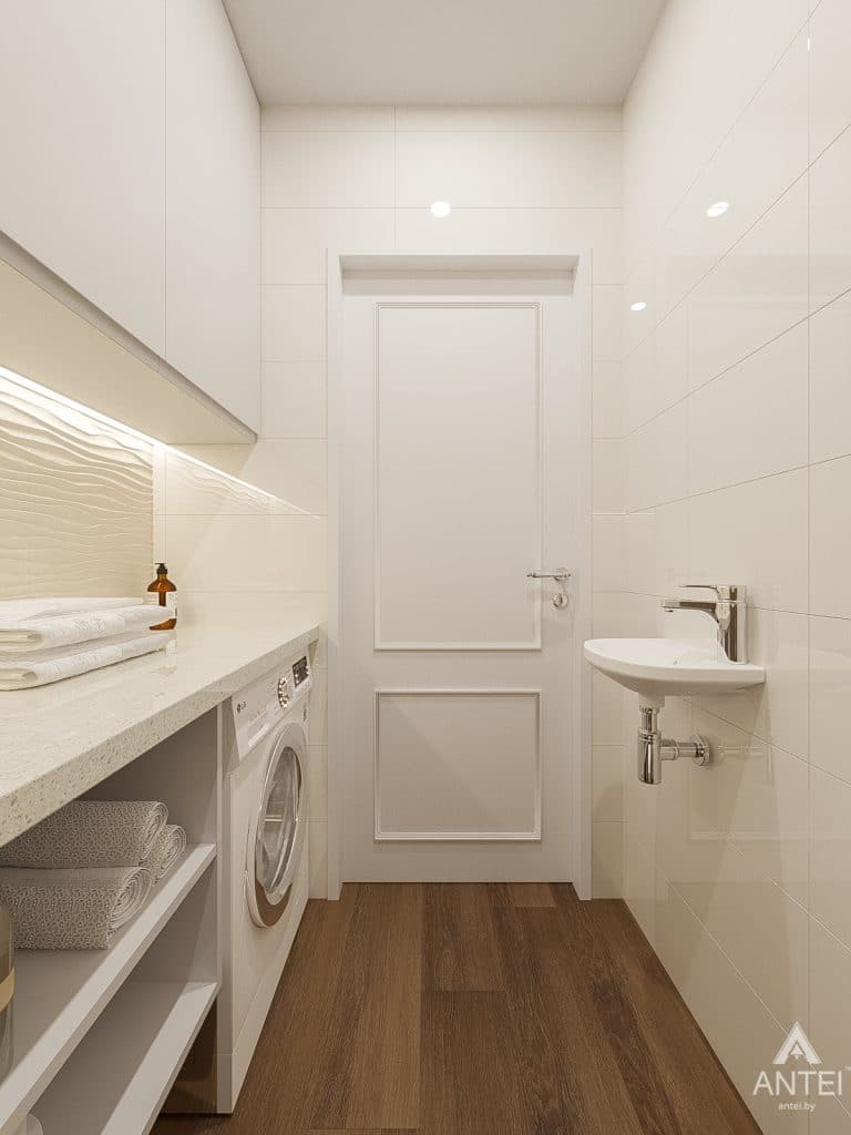 Дизайн интерьера двухкомнатной квартиры в Гомеле, ул. Волотовская - санузел фото №2