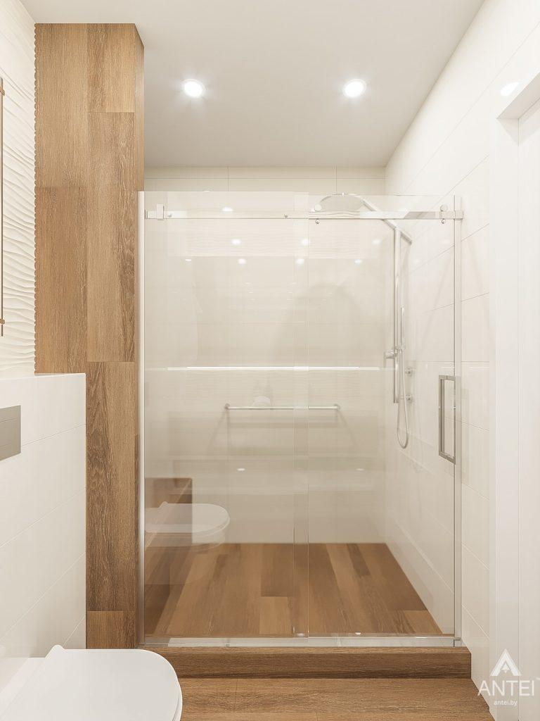 Дизайн интерьера двухкомнатной квартиры в Гомеле, ул. Волотовская - ванная фото №1