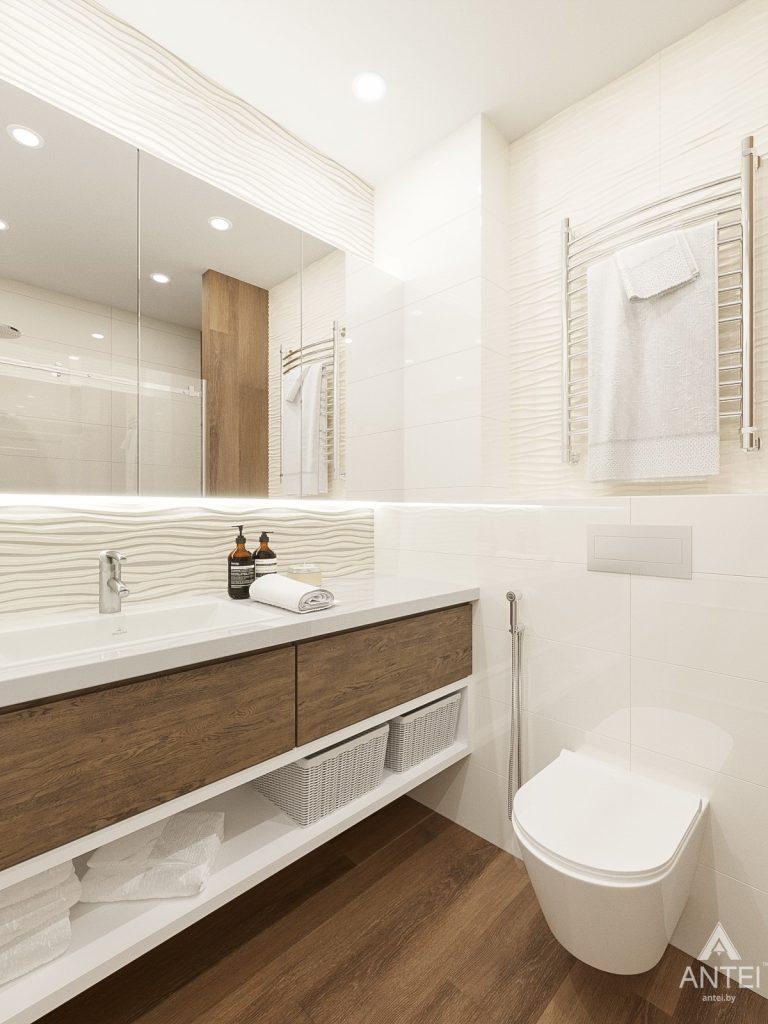 Дизайн интерьера двухкомнатной квартиры в Гомеле, ул. Волотовская - ванная фото №3