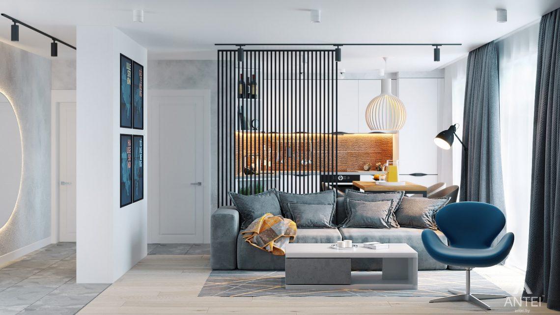 Дизайн интерьера двухкомнатной квартиры в Жлобине, ул. Карла Маркса- гостиная фото №1